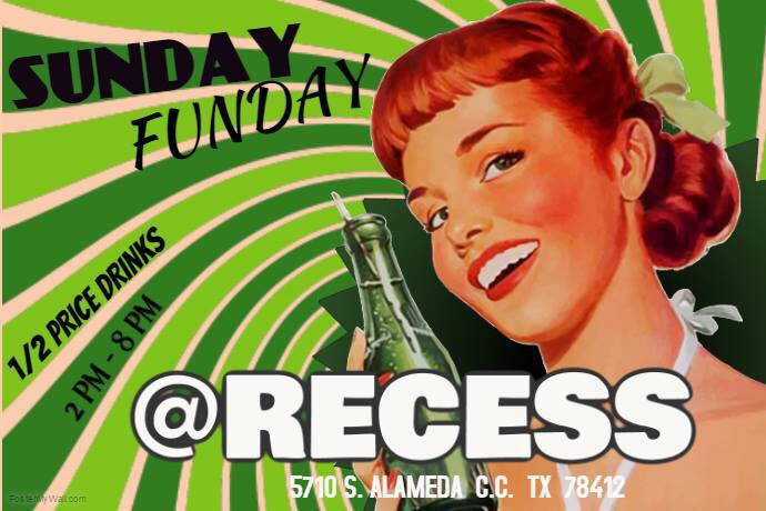 Sunday Funday at Recess Bar & Grill in Corpus Christi, Texas.