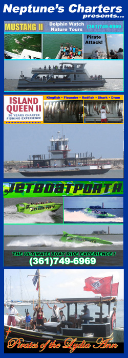 Neptune's Charters Dolphin Tours Fishing Jet Boat & Pirates of the Lydia Ann in Port Aransas